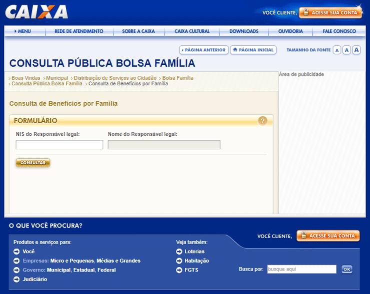 Dados do Bolsa Família