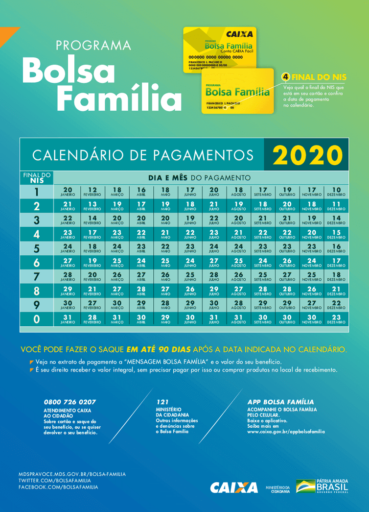 Calendário do Bolsa Família 2022